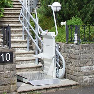 simo plataforma elevatoria para escadas exteriores curvas